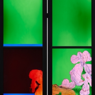 G2-02 2016 Flowers for Zaha Brian Clarke modern stained glass screen - contemporary art edition by HENI.jpg